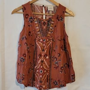 Knox Rose patterned sleeveless top